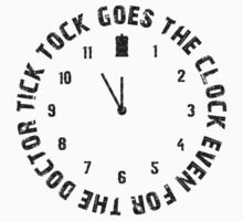 Tick tock goes the clock. Even for the Doctor.  Kids Clothes