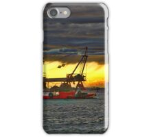Stormy sailling seas iPhone Case/Skin