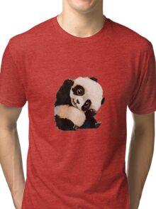 Cute panda Tri-blend T-Shirt