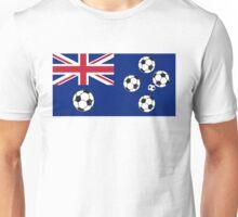 Australian Flag Soccer balls Unisex T-Shirt