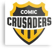 Comic Crusader Gear Metal Print