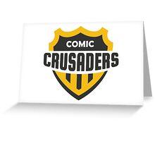 Comic Crusader Gear Greeting Card