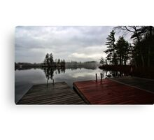 Spring - Putting The Docks In (Kezar Lake) Canvas Print