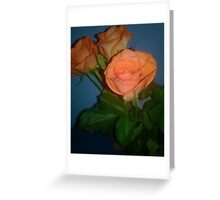 roses with blue background  Greeting Card