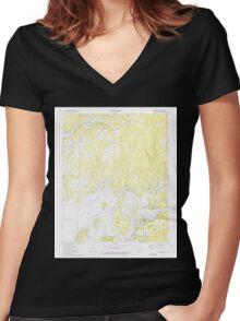 USGS TOPO Map Arkansas AR Brownsville 258064 1973 24000 Women's Fitted V-Neck T-Shirt