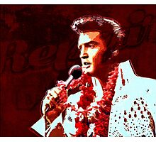 The king of rock in concert Photographic Print