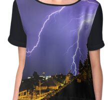 Lightning Strike Chiffon Top