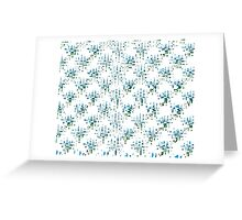 Green and blue abstract Greeting Card