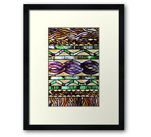 Stained glass imitates knitted cables Framed Print
