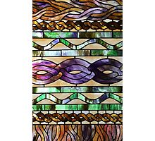 Stained glass imitates knitted cables Photographic Print