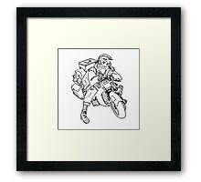 biker boy Framed Print
