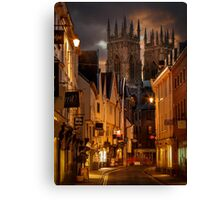Lower Petergate & York Minster Canvas Print