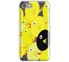 Yellow flock iPhone Case/Skin