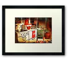 Once Upon a Time There Was a Kitchen....  Framed Print