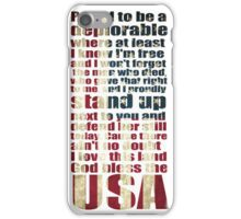 God bless the USA lyrics - proud to be a deplorable iPhone Case/Skin