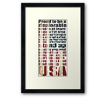 God bless the USA lyrics - proud to be a deplorable Framed Print