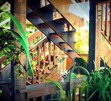 Back Stairs - From Inside by Michael May