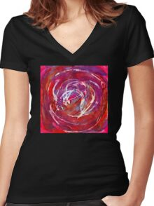 Bode's Galaxy Has Never Heard Of DonaldTrump Women's Fitted V-Neck T-Shirt