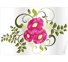 Flower background design Poster