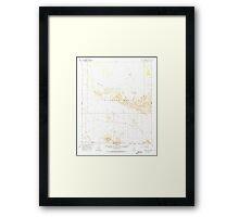 USGS TOPO Map Arizona AZ Childs Valley 314466 1965 62500 Framed Print