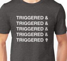 TRIGGERED & (WHT) Unisex T-Shirt