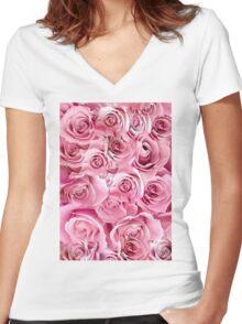 roses Women's Fitted V-Neck T-Shirt