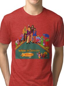 Yellow Zeppelin Submarine T-Shirt Tri-blend T-Shirt