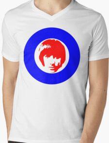 Drummer Mod Target T-Shirt Mens V-Neck T-Shirt