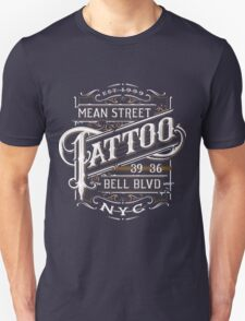 New York Tattoo - NYC - Lettering - vintage - badge -hipster - tatouage  Unisex T-Shirt