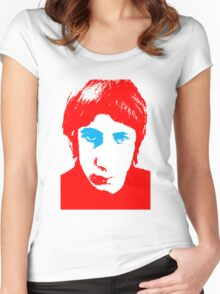 Who Pete Stencil Women's Fitted Scoop T-Shirt