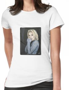 Gillian Anderson Painting Womens Fitted T-Shirt