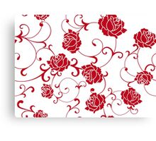 retro  flower rose Canvas Print