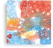 hand drawn watercolor bubble  Canvas Print