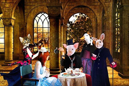 ~ They thought the creature very odd, but invited her to tea ~ by Nadya Johnson