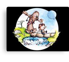 Calvin & Hobbes / Chewbacca & Han Solo Canvas Print