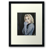 Gillian Anderson Painting Framed Print