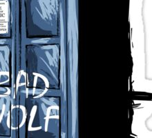 Bad Wolf Tardis Sticker