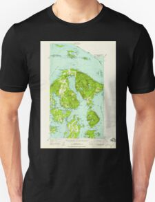 USGS Topo Map Washington State WA Orcas Island 242974 1957 62500 Unisex T-Shirt