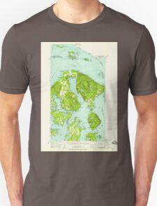 USGS Topo Map Washington State WA Orcas Island 242974 1957 62500 Unisex T-Shirt