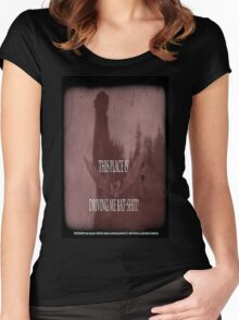"""'Orlock, the Vampire #2' (as killer vampire bat),  FROM THE FILM """" Nosferatu vs. Father Pipecock & Sister Funk (2014) Women's Fitted Scoop T-Shirt"""
