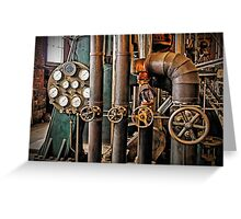 The Old Pumping Station - Steam Engine Greeting Card