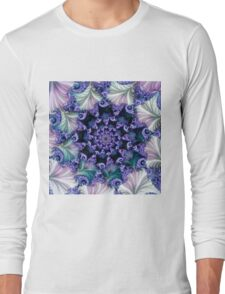floral abstract background a Long Sleeve T-Shirt