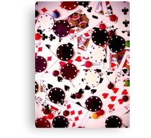 Poker and Chocolate Canvas Print