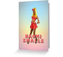 Naomi Smalls Neon Look Greeting Card