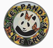 Let panda live free in flowerland Kids Clothes