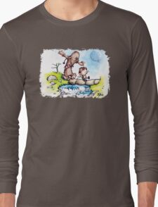 Calvin and Hobbes / Chewbacca & Han Solo Mashup Long Sleeve T-Shirt