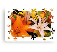 Memories of Spring ~ Lilies Canvas Print