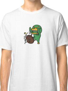 KakaoTalk Friends Green Monster Tube (Flipping Table) Classic T-Shirt