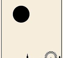 London Minimalist Travel Poster - Beige Version by FinlayMcNevin