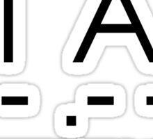 Interstellar - S T A Y ... - .- -.-- Sticker